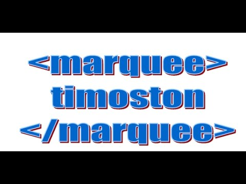 How to use marquee tag   bgcolor (Background color) PART 4