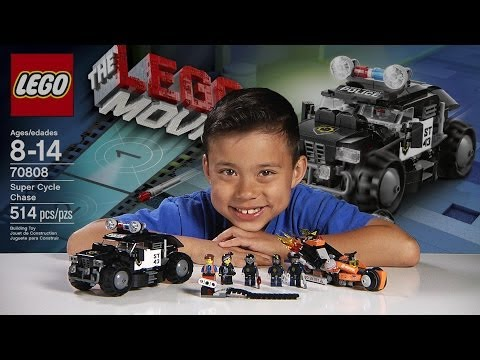 SUPER CYCLE CHASE -  LEGO MOVIE Set 70808 - Time-lapse Build, Stop Motion, Unboxing & Review!