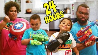Download 24 HOURS OVERNIGHT IN THE KITCHEN!!! Avengers Infinity Edition