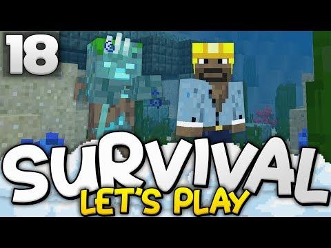THE UNDERWATER BASE BEGINS! - Survival Let's Play Ep. 18 - Minecraft Bedrock (PE W10 XB1)