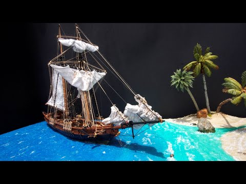 Pirate Ship Diorama Start to Finish: Part 1 - Planning, Testing and Building Base
