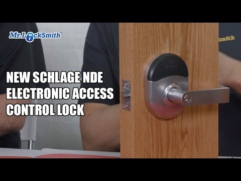 New Schlage NDE Electronic Access Control Lock | Mr. Locksmith Video