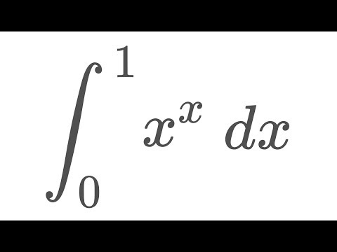 Integral of x^x from 0 to 1