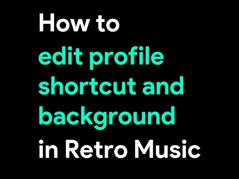 how to edit profile picture and background in retro music video