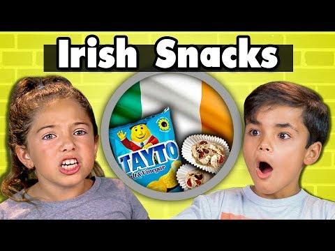KIDS EAT IRISH SNACKS | Kids Vs. Food