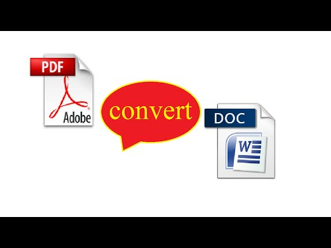 how to convert pdf to doc file
