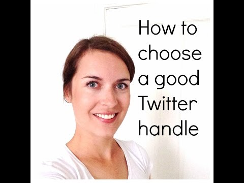 How to choose a good Twitter name