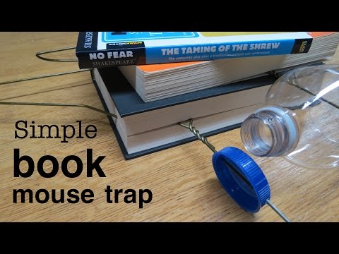 How to make  ● a simple HUMANE MOUSETRAP with BOOKS  (that works!)