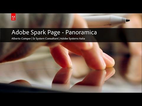 Adobe Spark Page - Panoramica