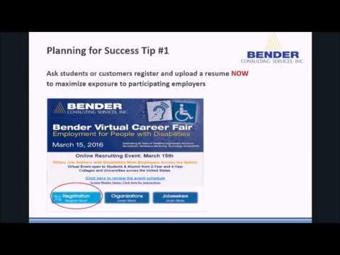 Bender Virtual Career Fair Webinar March 2016