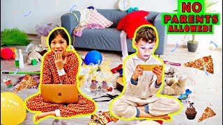 STAYING UP ALL NIGHT WITHOUT OUR PARENTS PERMISSION!! | Familia Diamond