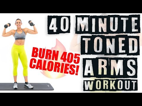40 Minute Toned Arms Workout 🔥Burn 405 Calories! 🔥