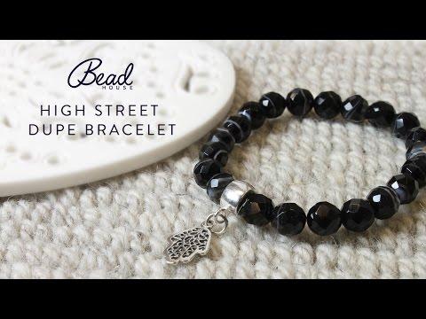 Gemstone Charm Bracelet - High Street Dupe