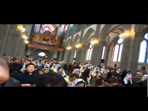 PalmSundayMass@Myeong-dong cathedral.avi