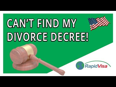 Must I Find an Old Divorce Decree to File My Immigration Petition?