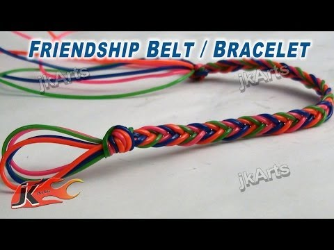 DIY Friendship Belt / Bracelet with fashion Strings  | How to make Wrist Belt | JK Arts 268