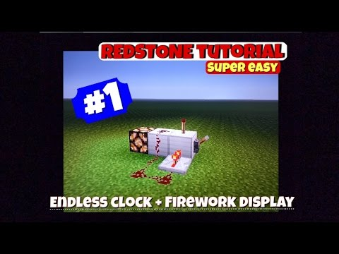 Redstone Tutorial #1 | Endless Clock and Firework Display | Minecraft PS3 1.16