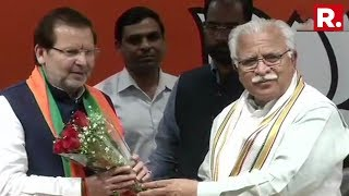 Another Blow For Congress, Senior Congress Leader Arvind Sharma Joins BJP | #May23WithArnab