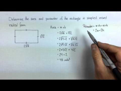 Adding & Multiplying Radicals - worked problem