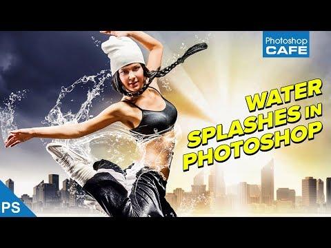 Make WATER SPLASHES in PHOTOSHOP | Photoshop tutorial (2018)