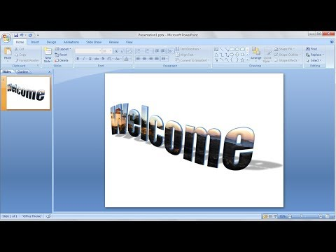 Powerpoint training |How to Quickly Put an Image Inside 3D Text in Powerpoint