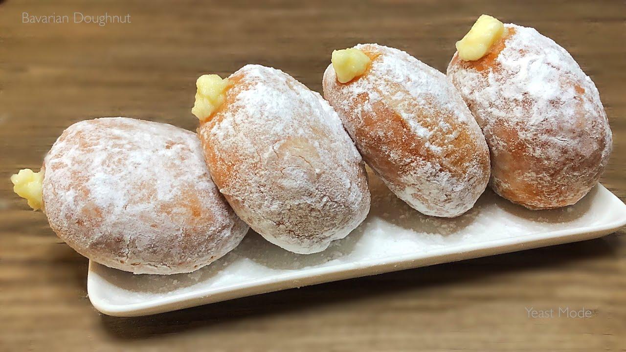 BAVARIAN CREAM DONUTS / DOUGHNUT   Dough + Bavarian/Custard Creme Filling Recipe