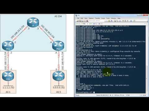 MPLS L3 VPN PE CE OSPF