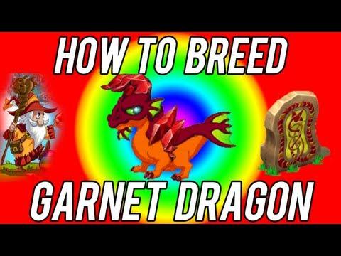 How to Breed : BEST Garnet Dragon + evolutions DragonVale!