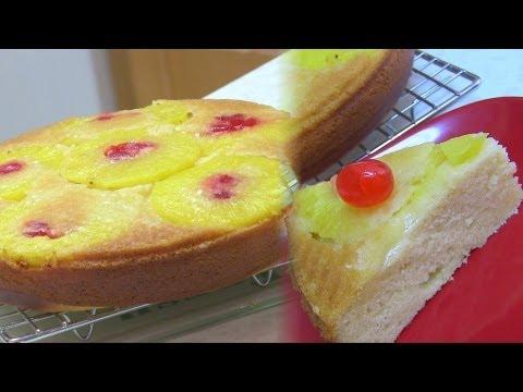 Pineapple Upside Down Cake Recipe Video - Egg Free Baking by Bhavna