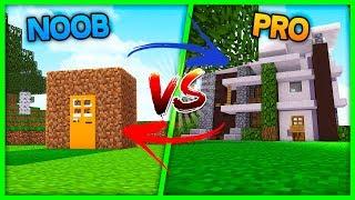 Minecraft - NOOB HOUSE VS PRO HOUSE (House vs House challenge)