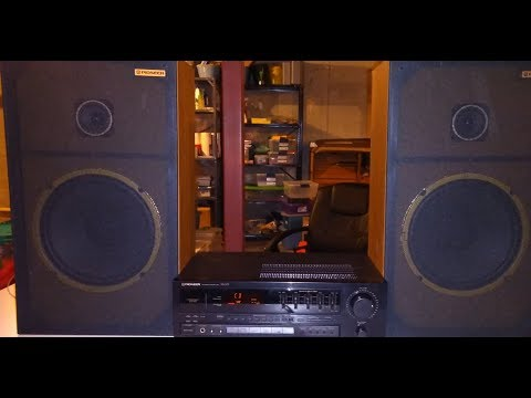 Vintage Early 90s Pioneer Stereo Gear Tour and Sound Test