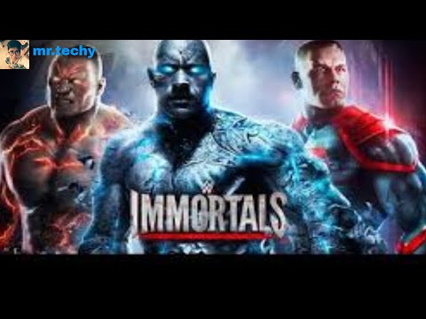 Playing wwe immortals game