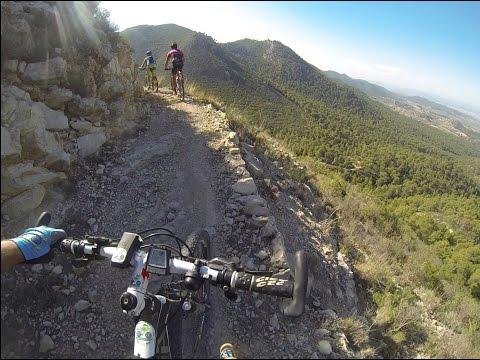 Ascenso Senda Madera Sierra Ricote en ciclismo de montaña