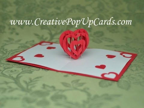 Valentine's Day Pop Up Card Tutorial: 3D Heart