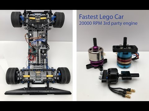 Fastest Lego Car 20000 RPM 3rd party engine Instruction