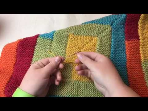 Ten Stitch Blanket Tutorial - Needle Knit - FB REPLAY of LIVE unedited