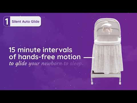 Simmons Kids® Silent Auto Gliding Deluxe Bassinet