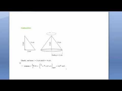 Volume of cone via right angle triangle in mathematis  trick