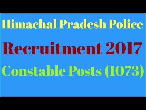 Himachal Pradesh Police Recruitment 2017. Constable Posts (1073).