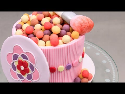 Cosmetics MAKE UP CAKE with Chocolate Pearls by Cakes StepbyStep