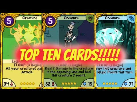 10 Most Powerful Cards in Card Wars!!!
