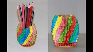 DIY Origami: 3D Pencil Holder
