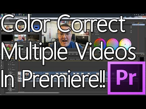 How To Color Correct Multiple Videos In Adobe Premiere