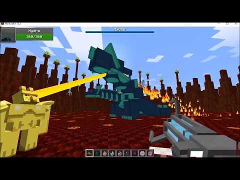 Minecraft Mob Battles: Golden Gargoyle versus Twilight Forest