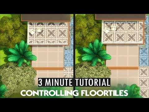 The Sims 4 - 3 MINUTE TUTORIAL - Controlling floortiles