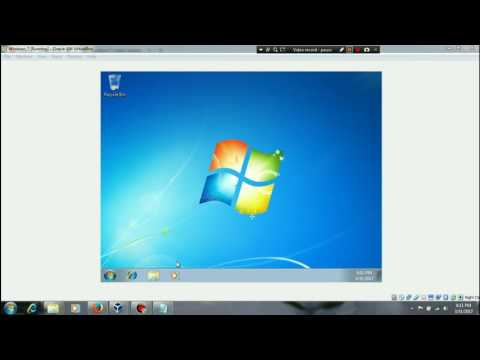 Installing and configuring Windows 7 for first time.