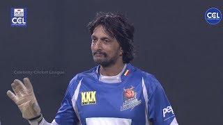 Sudeep Kichha Celebrating Success On Winning Over Bengal Tigers