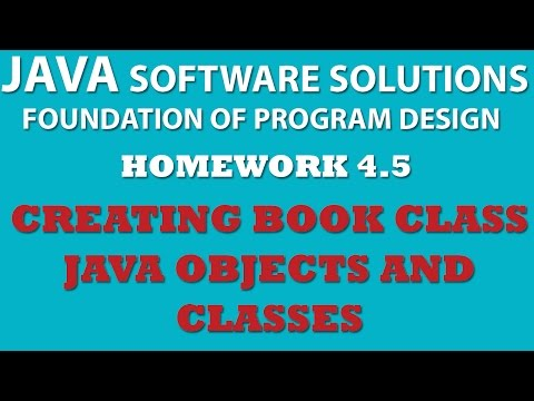 4-5 Java: Creating Book Class (Java OOP, Objects, Classes, Setters, Getters)