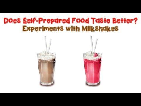 Does Self-prepared Food Taste Better?