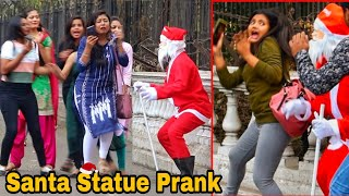 Santa Statue Prank On Girl's 2021 - Epic Reactions  Best Pranks 2021 By TCI